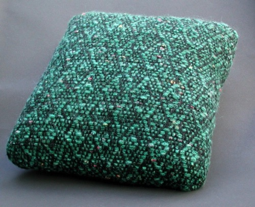 8 Harness  16 inch pillow in turquoise
