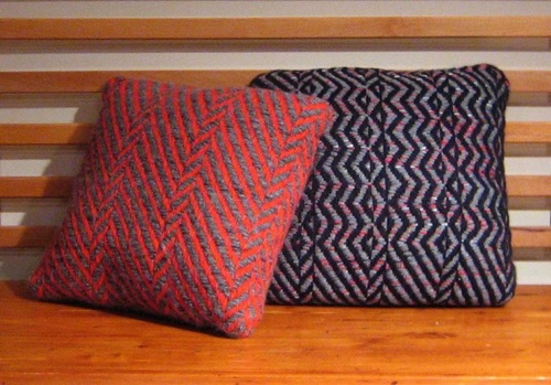 8 harness twill variation pillows 16 inches