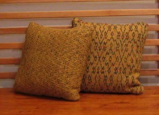 8 harness twill variation pillows in golds 16 inches