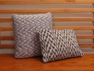 8 harness twill variation pillows