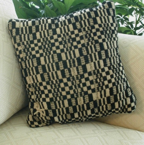 Black & White Op  Design 16 inch pillow
