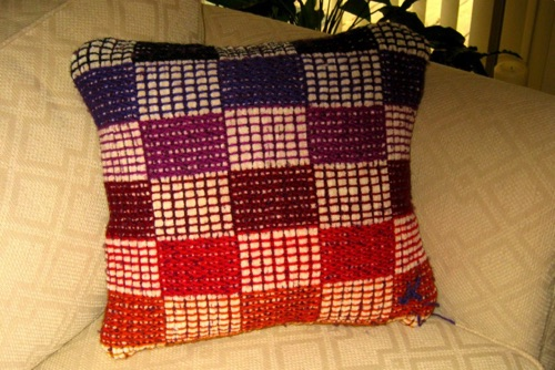 "Color ""Gamp"" Chenille Pillow - 16 inch"